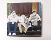 Squints Print on Canvas  (12 inches x 12 inches)