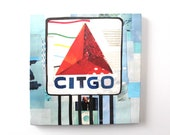 Citgo Sign Print on Canvas (12 inches x 12 inches)