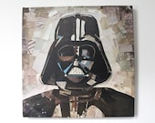 Darth Vader Print on Canvas  (12 inches x 12 inches)