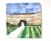 Trinity College (Oxford) Print on Canvas  (12 inches x 12 inches)