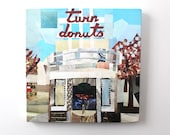 Twin Donuts Allston Canvas Print (12 inches x 12 inches)