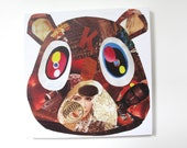 Kanye West Dropout Bear Print on Canvas  (12 inches x 12 inches)