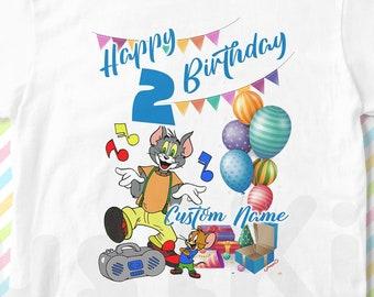 6100c210 Tom & Jerry Custom birthday T-shirt, Tom and Jerry Personalized T-shirt, Tom  and Jerry Design T-shirt, Tom and Jerry Kids Tees