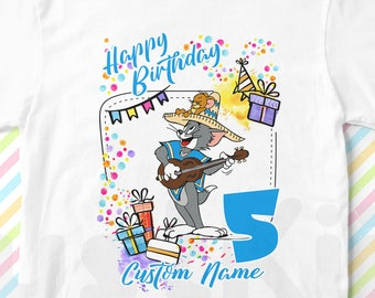 6100c210 Tom & Jerry Custom birthday T-shirt, Tom and Jerry Personalized T-shirt, Tom  and Jerry Design T-shirt, Tom and Jerry Kids Tees