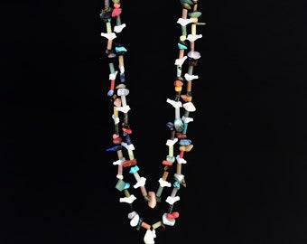 Zuni bird fetish Navajo style neckclace. Multicoloured. Handcraft necklace