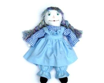 Prairie Pickins hand made Bonnie Blue rag doll V2