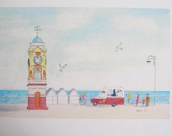 Clock Tower and Ice Cream