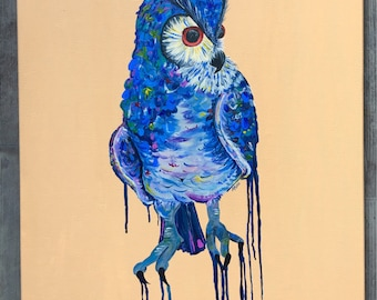 Oracle, the Owl. Original painting.