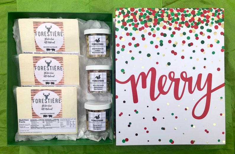 Weihnachtsgeschenke Lebensmittel.Lebensmittel Geschenk Korb Wurst Geschenk Kandierte Nüsse Gourmet Geschenk Feinschmecker Last Minute Weihnachtsgeschenke Geschenke Für Papa