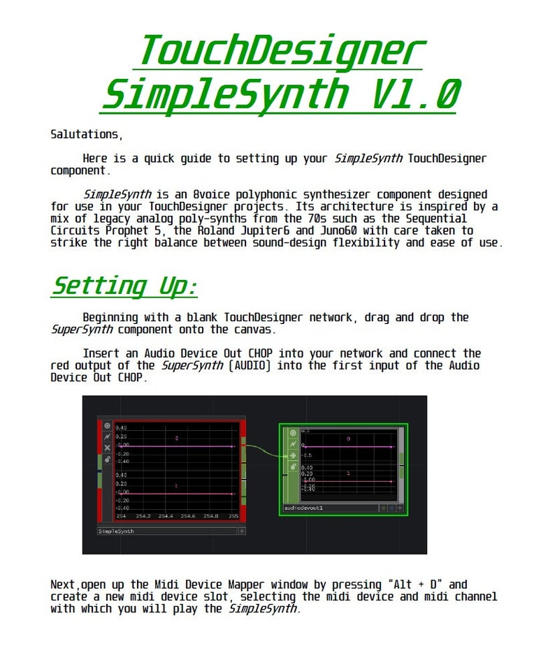 SimpleSynth Polyphonic Synthesizer for TouchDesigner image 0