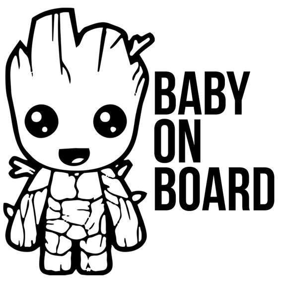 Baby Groot Decal Guardians Of The Galaxy Vol 2 Sticker Vinyl Decal Wall Car Macbook Decal Laptop Sticker Made In Us Baby Groot Groot Baby Clothes Quilt