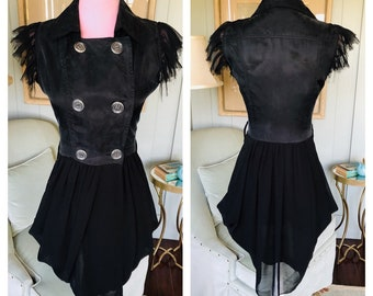 91b0eb6e Vintage Givenchy Black Silk Mini Dress 90s 1990s   Medium