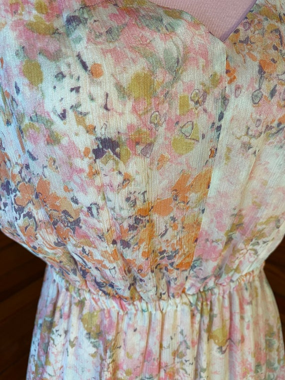 20s Style Dress, Chiffon Dress, 20s Dress, Vintag… - image 10