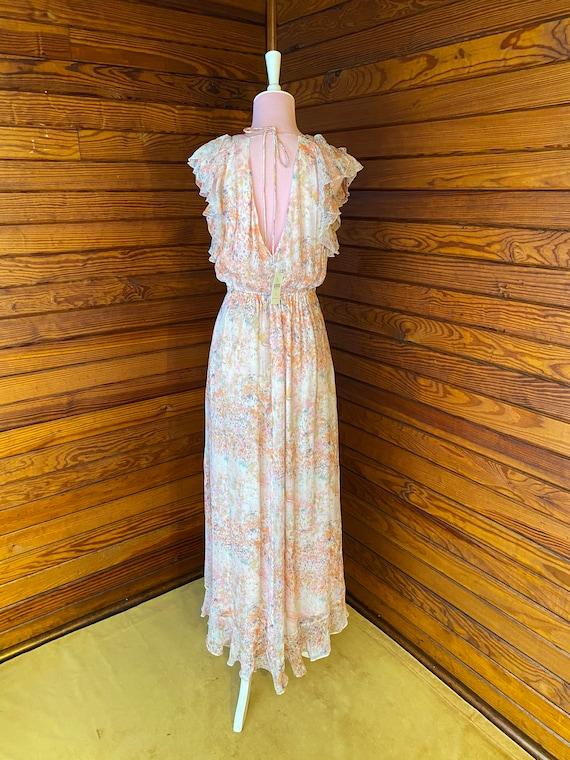 20s Style Dress, Chiffon Dress, 20s Dress, Vintag… - image 7