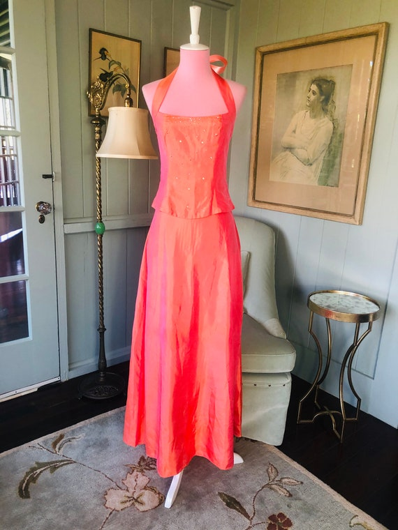 30s Style Dress, 90s Does 30s, Vintage Prom Dress… - image 2