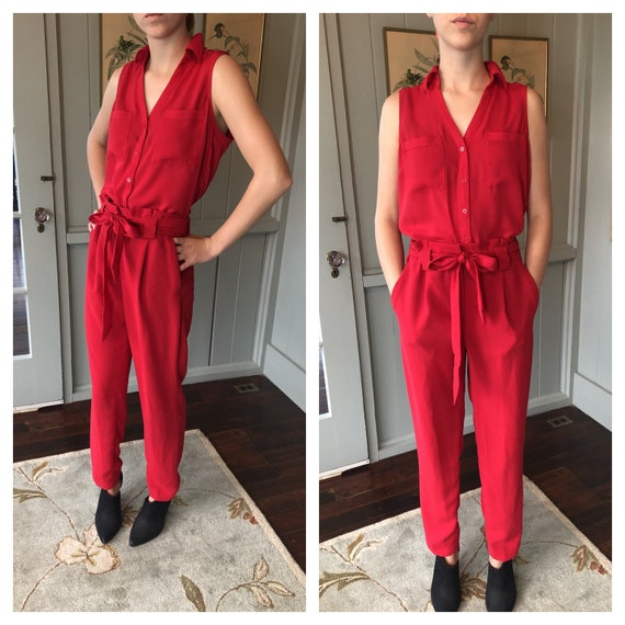 Pantsuit, Womens Suit, High Waist Pants, 80s Pants