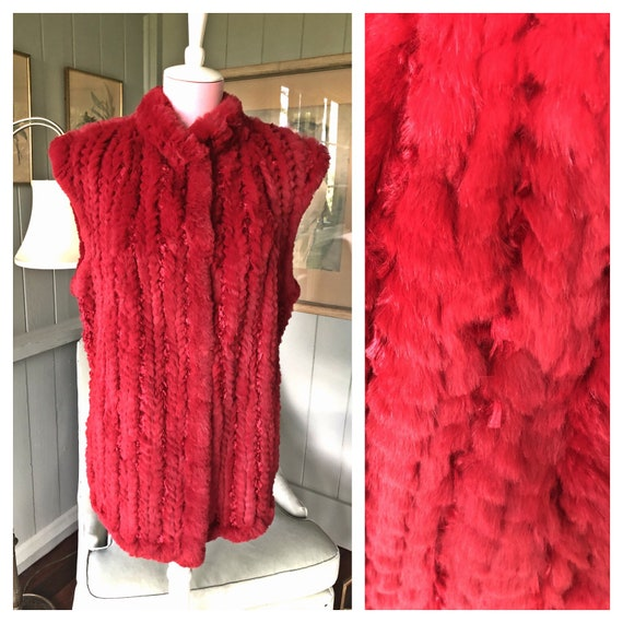 Fur Coat, Red Fur Jacket, Fur Vest, Fur Jacket, Ra
