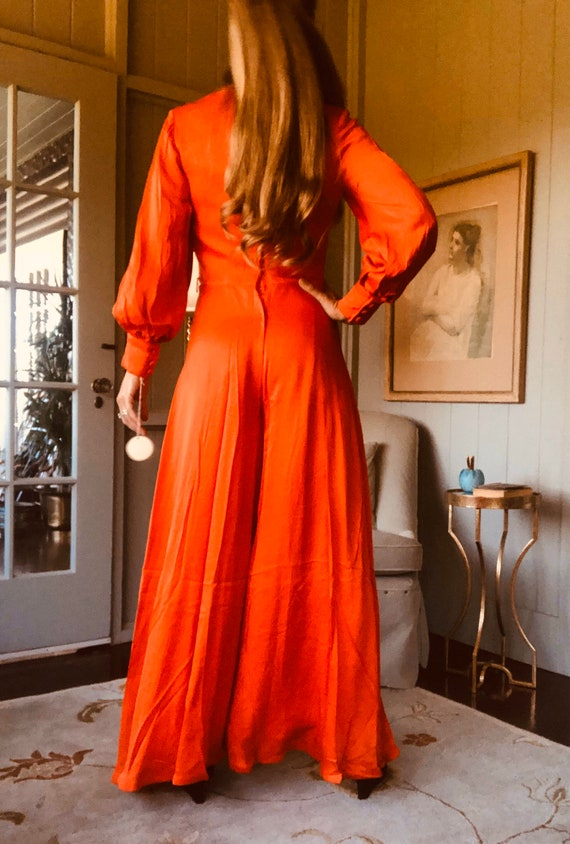70s Jumpsuit, Palazzo Pants, 70s Pant Suit, Disco… - image 8