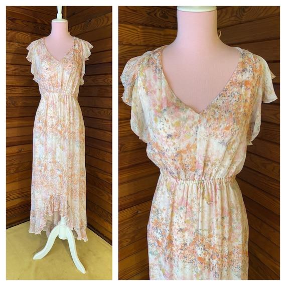 20s Style Dress, Chiffon Dress, 20s Dress, Vintag… - image 1