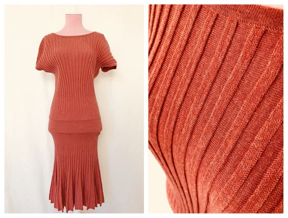 Sweater Dress, 30s Style Dress, Like 30s Dress, 90