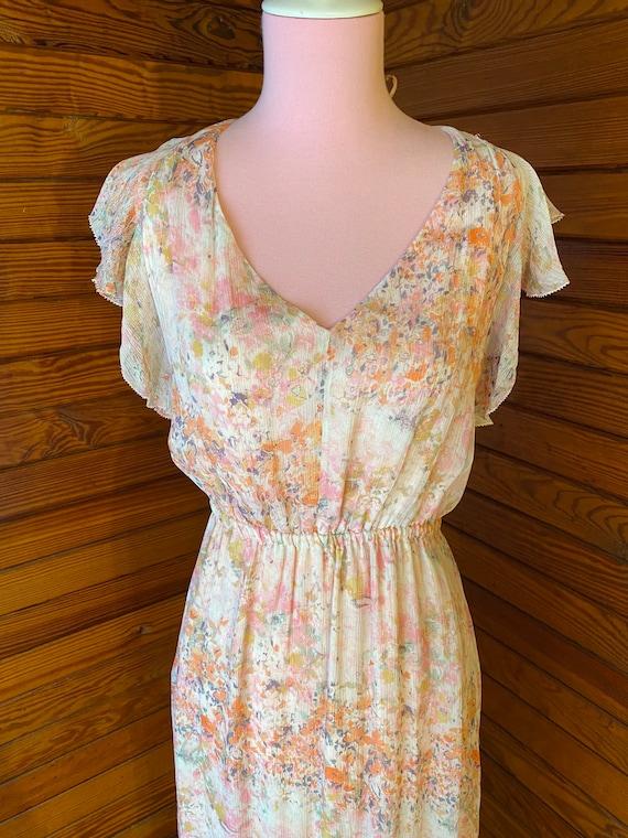 20s Style Dress, Chiffon Dress, 20s Dress, Vintag… - image 3