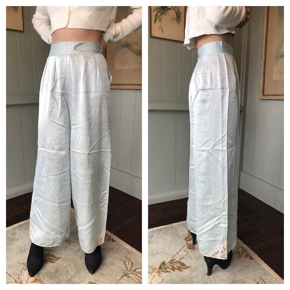 40s Pants, Silk Lingerie, Silk Pants, Vintage Ling