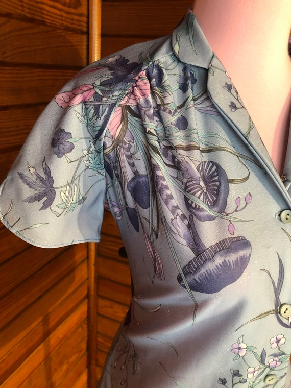 70s Blouse, 70s Disco Shirt, Psychedelic Shirt, B… - image 4