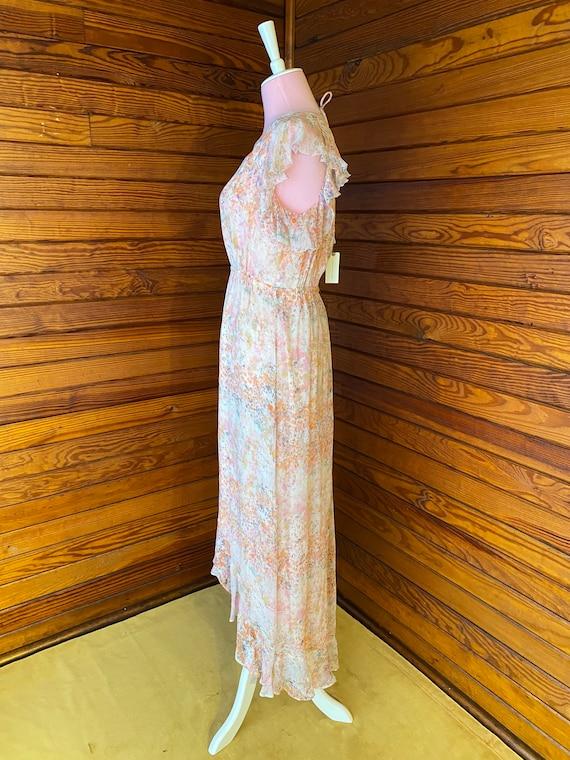 20s Style Dress, Chiffon Dress, 20s Dress, Vintag… - image 5