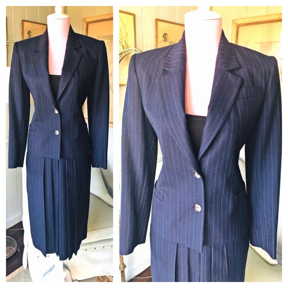 40s Style Suit, Women's Suit, 80s Power Suit, Wool