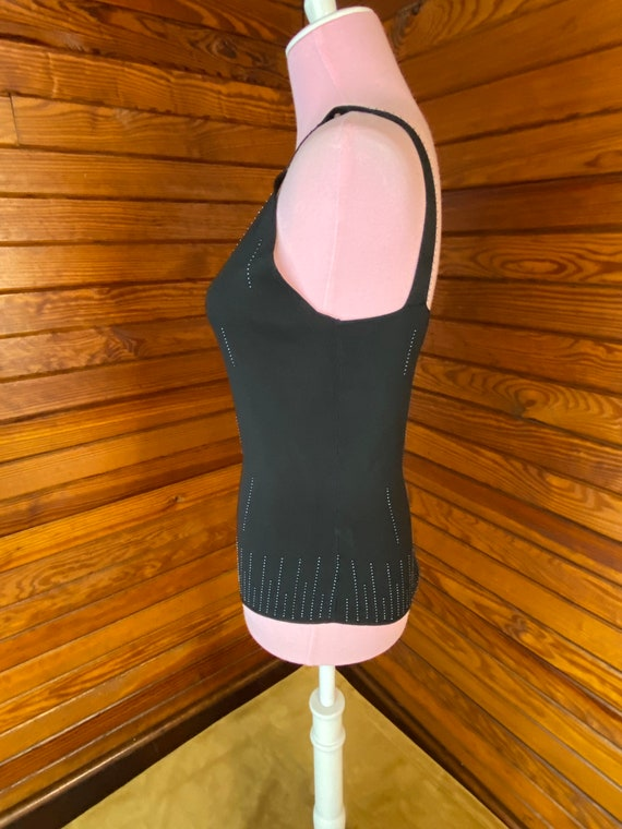 Silk Blouse, Silk Shirt, Silk Knit Camisole, Silk… - image 4