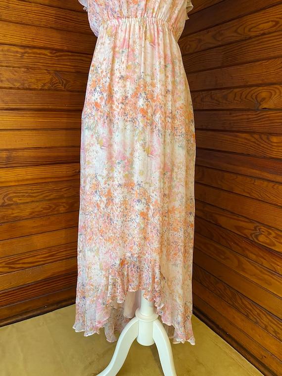 20s Style Dress, Chiffon Dress, 20s Dress, Vintag… - image 4