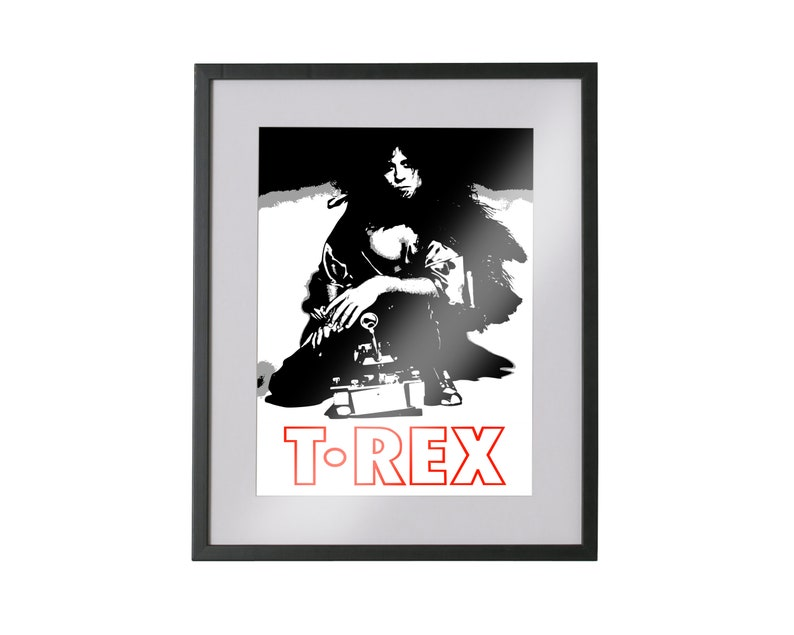 Marc Bolan T Rex Music Framed Canvas Art Picture Print A4 A3 A2 A1 Ready To Hang