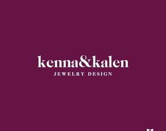 premade logo design custom branding kit, small business logo design branding package, photography logo,