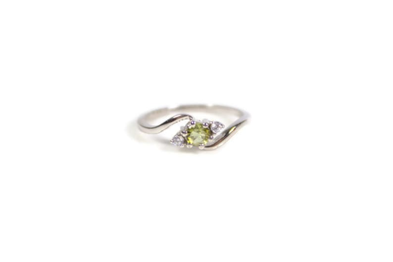 92.5 Sterling Silver ring,Gemstone ring,Tourmaline Handmade jewelry,October birthstone,Promise ring Natural Green Tourmaline ring AAA R47