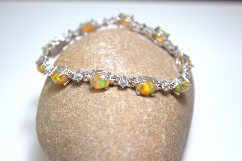 AAA Bracelets,Gems jewellery .Opal,October Birthstone Natural Opal Bracelet Opal Gems Bracelet,925 Sterling Silver bracelet,Opal Jewelry