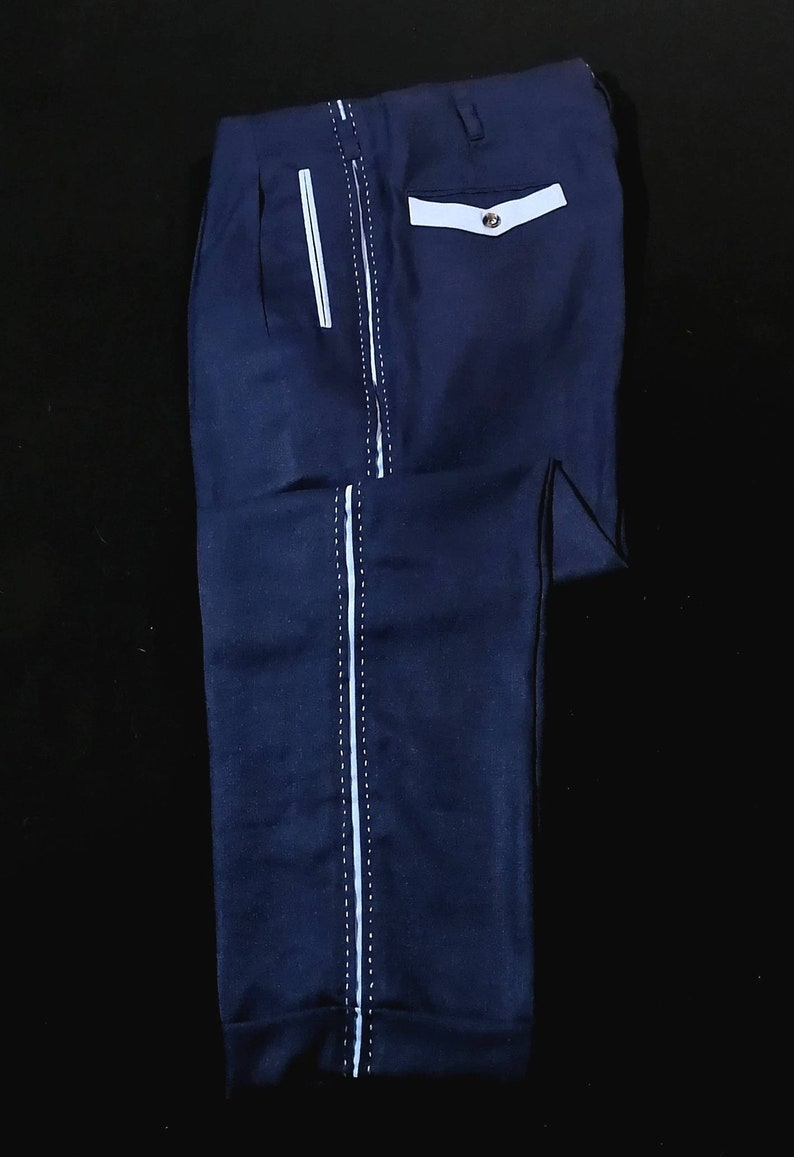 1950s Men's Pants, Trousers, Shorts | Rockabilly Jeans, Greaser Styles Rockabilly Pistol Pants Campus Style VLV $130.00 AT vintagedancer.com