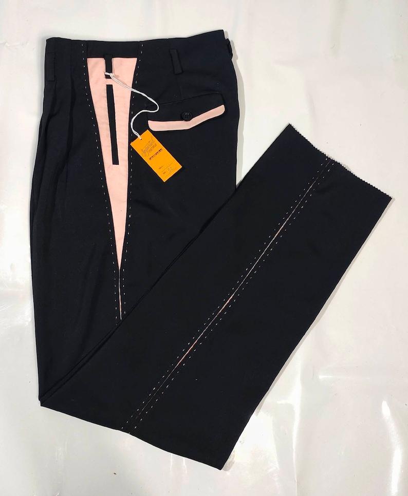 1950s Men's Clothing Killer Rockabilly Pistol Pants Black Pink VLV $135.00 AT vintagedancer.com
