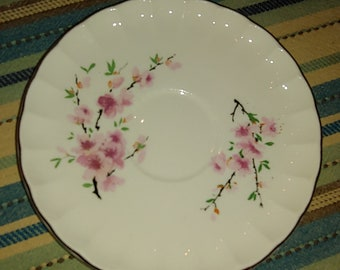 "Set of 6 W.S. George Saucers in ""Peach Blossom"""