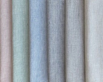 Mint white dots linen fabric by half yard or meter  natural washed flax  softened linen for sewing  stonewashed medium weight  soft