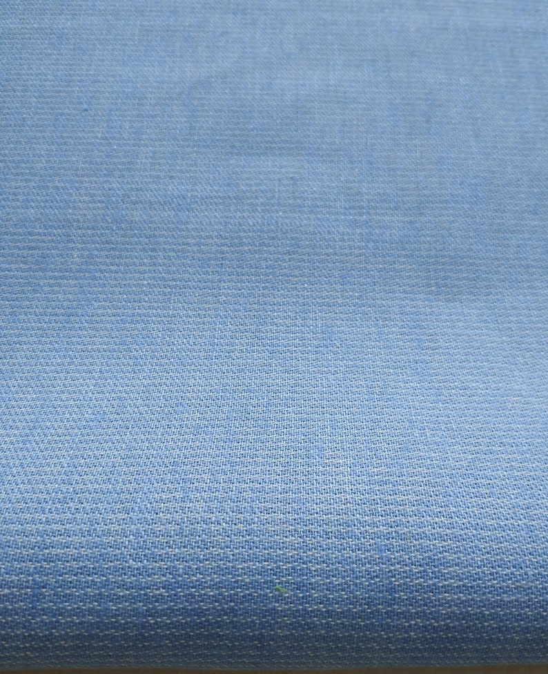 CLEARANCE Medium Weight 190 grm2 Linen fabric for home textiles Sky Blue Striped Linen Cotton Mix fabric by the yard or meter