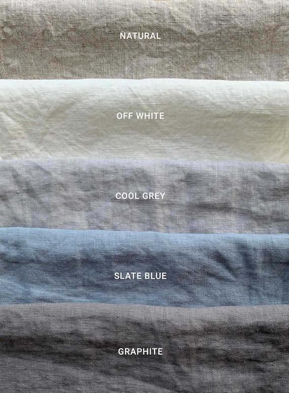 Available in 6 colors Linen Bedding Washed linen fabric by the yard or meter curtain table linen fabric 185 grm2 Width 250cm  98