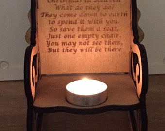 Personalised Rocking chair candle holder