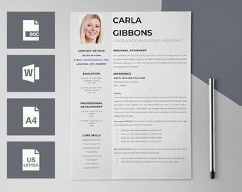 CV Design - CV Template for Word - Resume Templates - Curriculum Vitae - Teacher Resume - Resume Design - Modern Resumes - Teacher CV