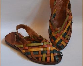 e8c894c070206 Colorful Design Brown Leather Sandals