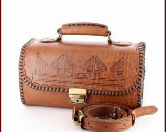 Handmade Leather Bag Women Handbag Accessory Crossbody Bag Best Quality Genuine Leather %100 Handcraft Unique Leather Purse - BG16ka - RS