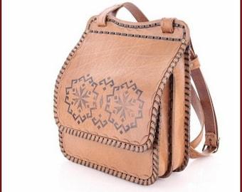 Handmade Leather Bag Women & Men Handbag Accessory Shoulder Bag Genuine Leather %100 Unique Leather Purse - BG54ka - Regular Shipping