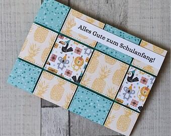 School Enrolment Card - Back to School - Greeting Card - Children's Card