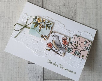 Wedding Card - Greeting Card with Birds