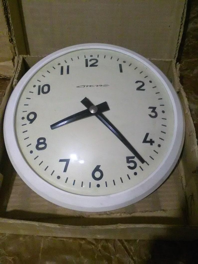 Sensational Vintage Ussr Industrial Art Home Decor Wall Clock Download Free Architecture Designs Rallybritishbridgeorg
