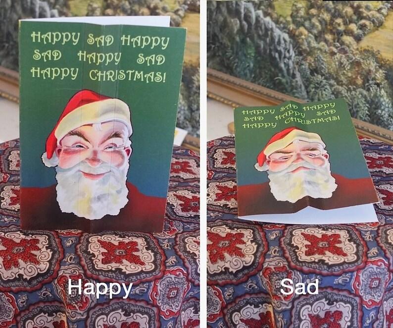 Happy Sad Happy Sad Happy Optical Illusion Christmas Card image 0